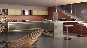 cuisine couleur taupe idee deco meubles et peinture With couleur mur salon tendance 14 cuisine bois et noir cuisines en bois cuisines et modles