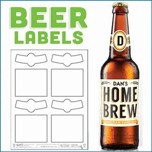 blank beer labels water resistant peel off with easy With blank beer labels