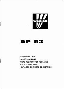 Welger Ap 53 Spare Parts List Download In 2020