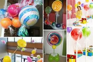 Deco Bonbon Anniversaire : 14 choses faire avec des ballons gonflables anniversaire pinterest ballon gonflable ~ Melissatoandfro.com Idées de Décoration