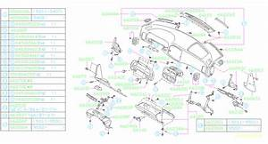 1998 Subaru Impreza Instrument Panel Trim Panel Clip