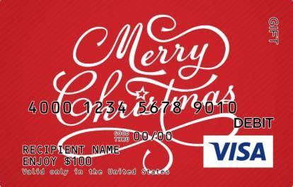 Cursive Merry Christmas Visa  Ee  Gift Ee    Ee  Card Ee
