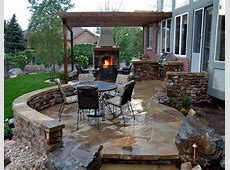 Garden Ideas Outdoor Patio Designs With Fireplace Several