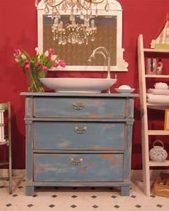 Badmöbel Shabby Chic : waschtisch blau archive wasserheimat ~ Orissabook.com Haus und Dekorationen