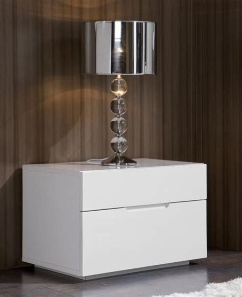 overstock bedroom furniture bedside table with drawers mirrored modern white nightstand color black white more views