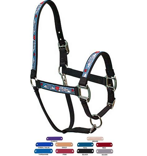 horse halter elite plate personalized ever equine flames lead usa