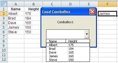 excel userform controls combobox  listbox additem