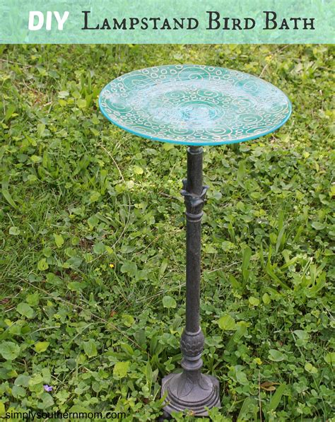 diy bird bath made from a lstand simply southern mom