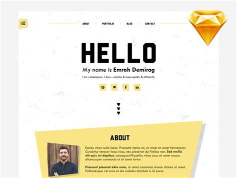 Personal Portfolio Template Personal Portfolio Template Sketch Freebie Free
