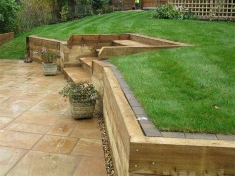 Wooden Sleepers by Retaining Wall Wooden Sleepers Search Retaining