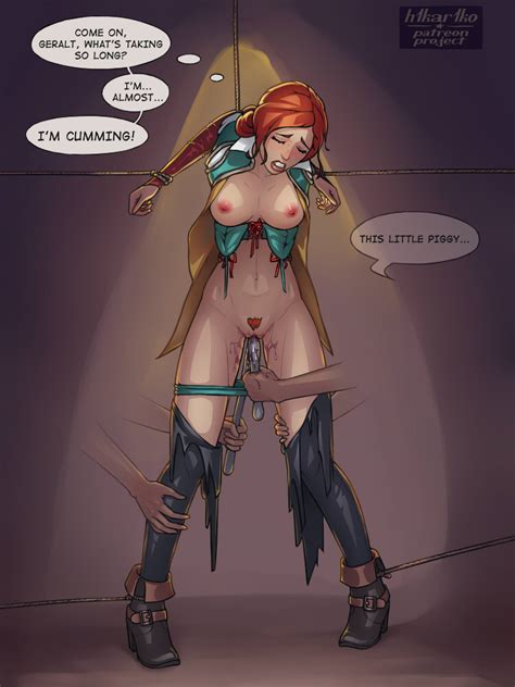 Sexy Torture Of Triss Merigold By H1kar1ko Hentai Foundry