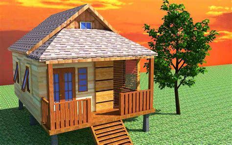 contoh desain rumah kayu minimalis modern sederhana