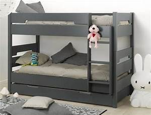 Lit Superpos Enfant Milo Anthracite 90x190 For The Home
