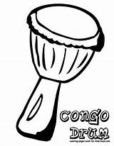 Drum Coloring Pages Drums African Africa Sheets Template Musical Congo Mini Instrument Lessons Sketch sketch template