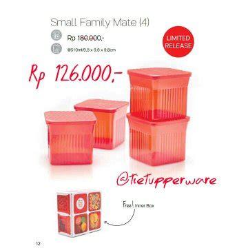 Family Mate Tupperware jual small family mate tupperware 4 di lapak