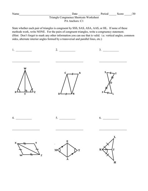 sas sss aas worksheet the best and most