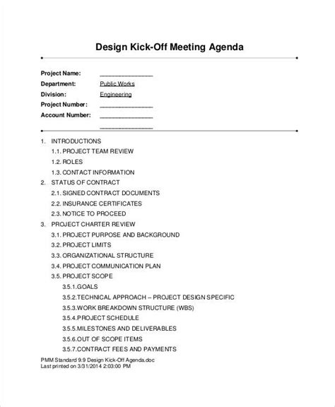 kick  agenda samples   word  format
