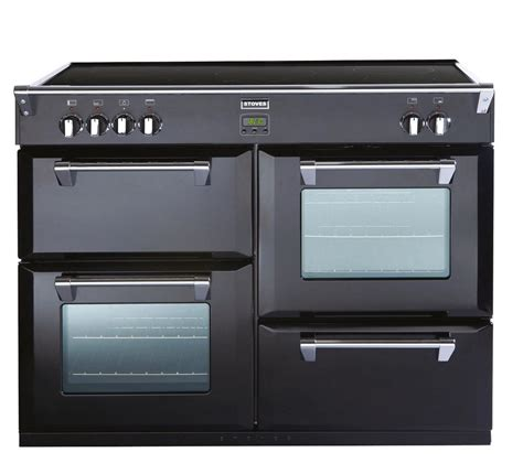 stoves induction range cooker buy stoves richmond 1100ei electric induction range cooker black free delivery currys