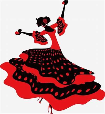 Flamenco Dancer Clipart Dance Spanish Cartoon Backgrounds