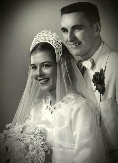 1950s Stunning Vintage Wedding Photo 11x14 Bride And Groom