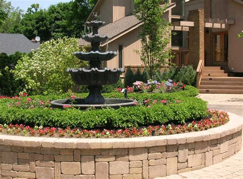 landscaping fountains michigan water features
