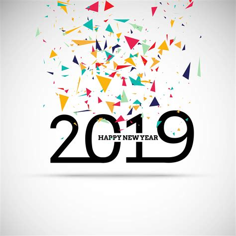 happy  year text colorful shiny background