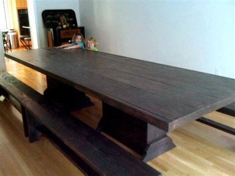 12 Foot Harvest Table Community Table And Benches By