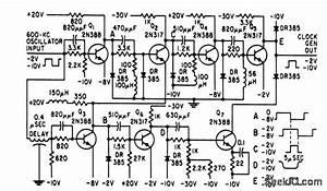 Pulse Shaper For 600 Kc Clock - Basic Circuit - Circuit Diagram