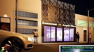 Maison 3d Dakar Senegal  Projet Design Restaurant Dakar