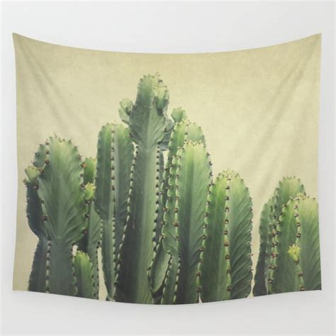 cactus wall tapestry  pure nature  society