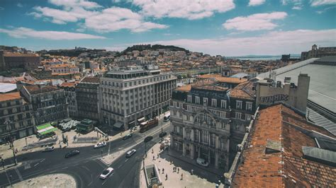 full hd wallpaper lisbon aerial view portugal  city