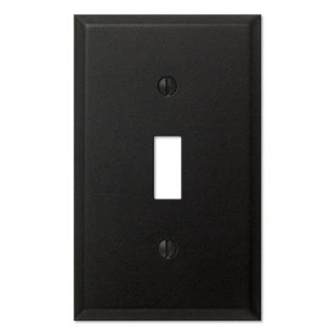 creative accents wall plates creative accents 1 toggle wall plate black iron