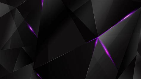Abstract Black Bg by Wallpapers Purple Abstract Polygons Black Bg By