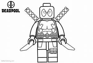 Lego Deadpool Coloring Pages Black And White Free