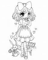 Coloring Chibi Pages Preschool sketch template