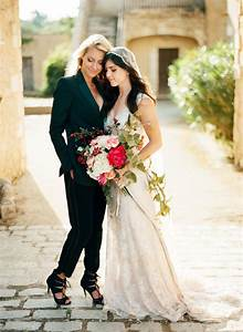 lgbt same sex marriage lesbian couples wedding dresses With lesbian wedding dresses