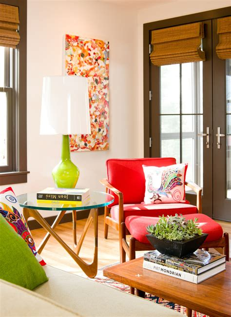 midcentury living room mid century living room living room midcentury with great room cowhide rug