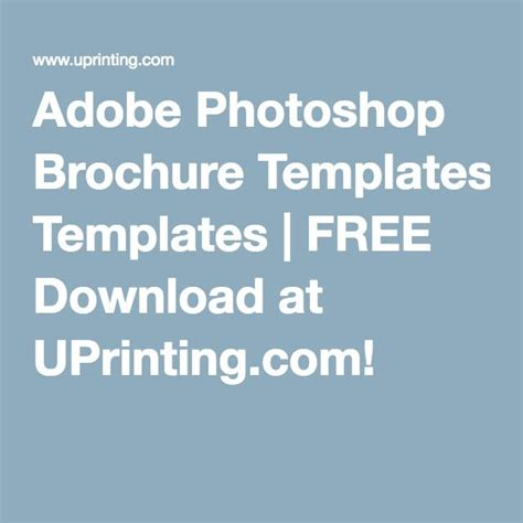 Adobe Photoshop Brochure Templates by 17 Best Ideas About Brochure Templates Free On