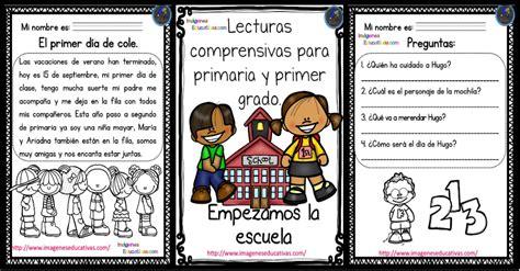 lecturas con preguntas para primaria y primer grado imagenes educativas