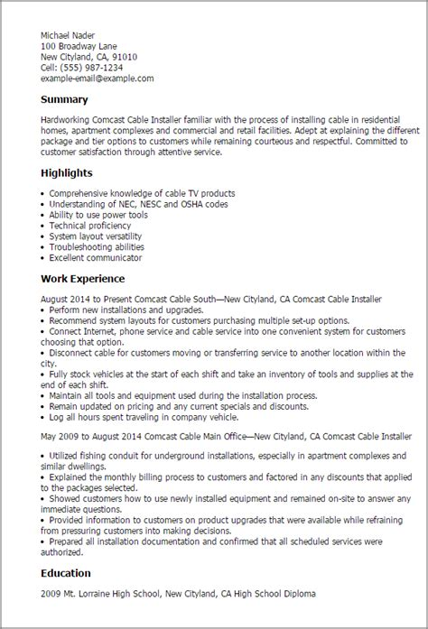 cable tv installer cover letter sample mt home arts