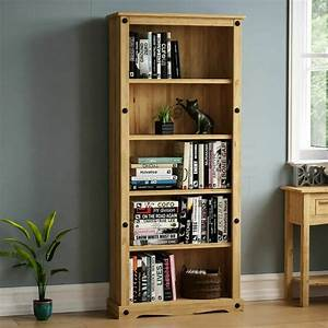 Corona, Tall, Bookcase, Unit, Mexican, Solid, Pine, Wood, Waxed, Rustic, Finish, Furniture, 5055998403956