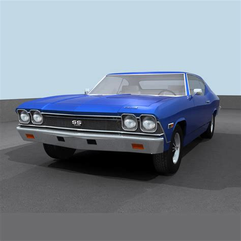 Chevelle Ss Models by 3d Model Of Chevelle 1968 Ss