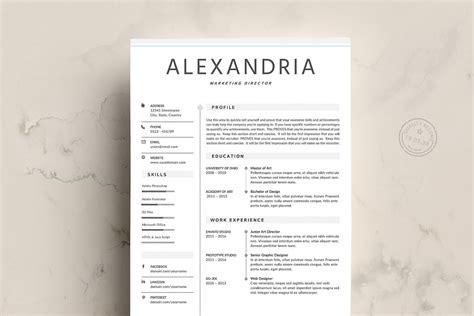 Chronological Resume Minimalist Design by Minimalist Resume Template