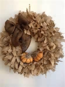 Burlap Fall Wreath Ideas