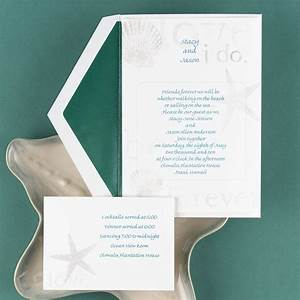 By the seashore invitation invitations by dawn for Cheap thermography wedding invitations