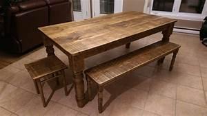 Table Et Banc En Bois : table de cuisine en bois table de cuisine sur mesure de ~ Melissatoandfro.com Idées de Décoration
