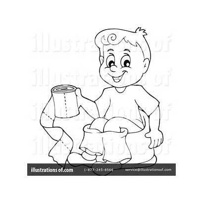 Potty Training Clipart Drawing Illustration Visekart Royalty