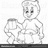 Potty Training Clipart Drawing Illustration Royalty Visekart Rf Sample Getdrawings sketch template