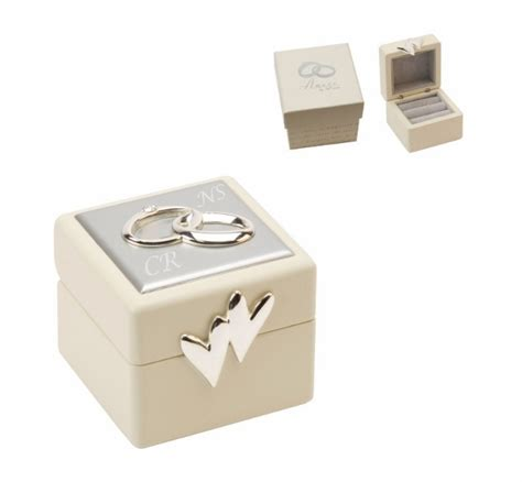 engraved wedding ring box with gift box a1 personalised gifts