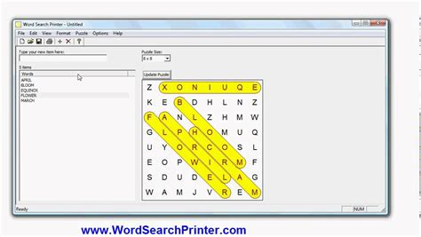 Spring Word Search Puzzle Maker
